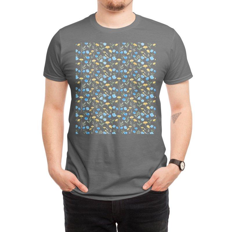 Wildflower floral pattern Men's T-Shirt by VisudylicCreations's Artist Shop