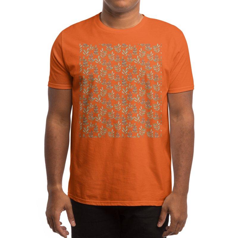 Berry leaf watercolor pattern Men's T-Shirt by VisudylicCreations's Artist Shop