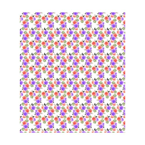 Design for Red Purple Floral Pattern