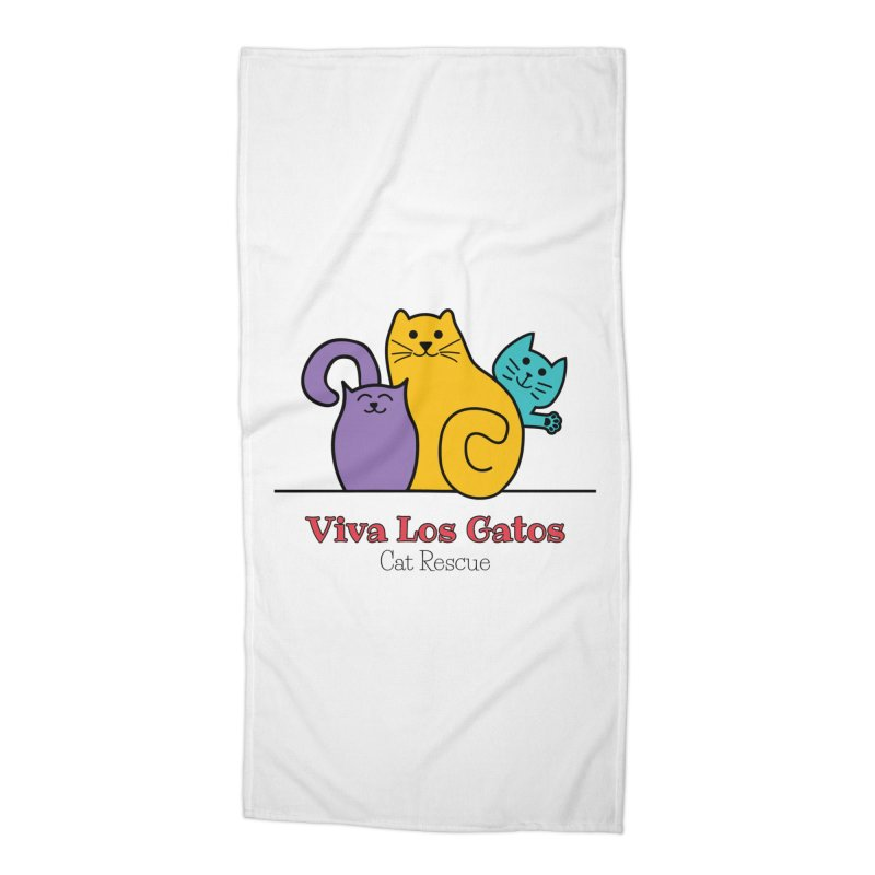 Gatos Light Accessories Beach Towel by Viva Los Gatos Cat Rescue's Shop