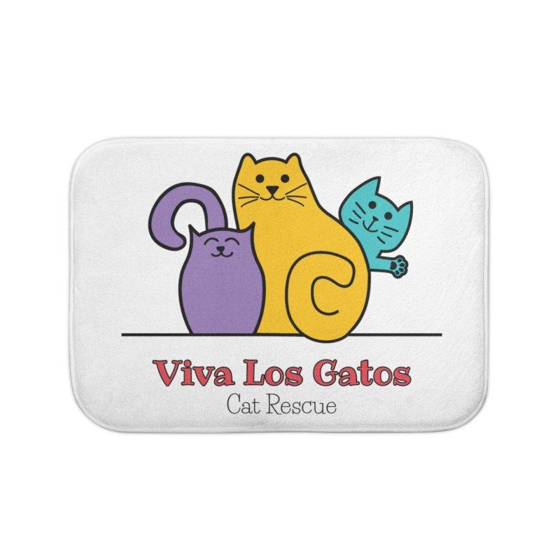 Gatos Light Home Bath Mat by Viva Los Gatos Cat Rescue's Shop