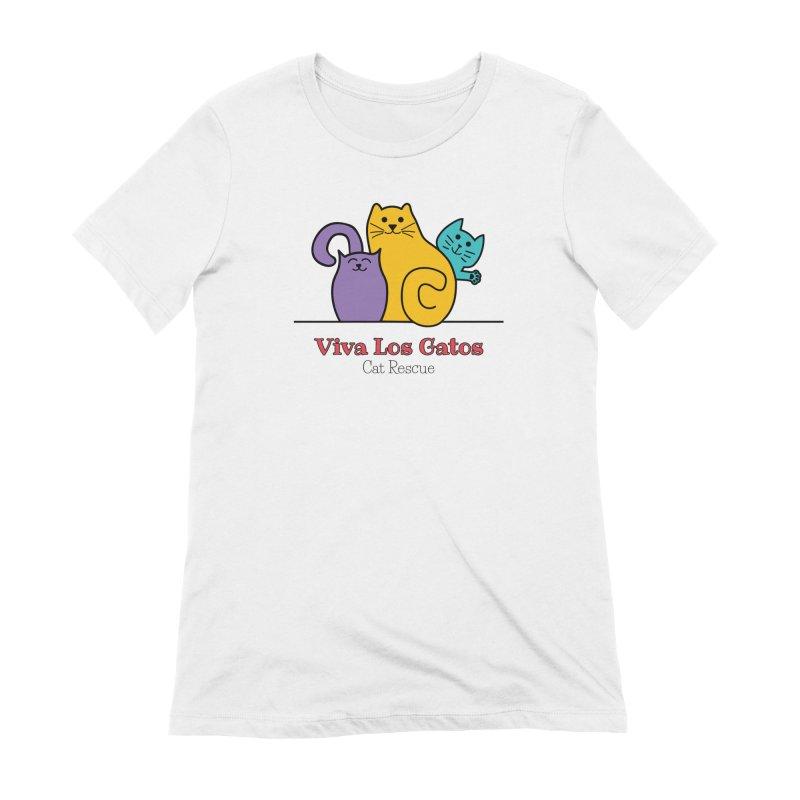 Gatos Light Women's Extra Soft T-Shirt by Viva Los Gatos Cat Rescue's Shop