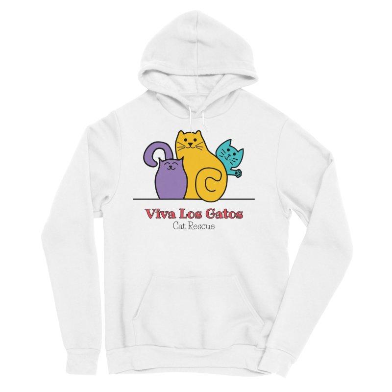 Gatos Light Women's Sponge Fleece Pullover Hoody by Viva Los Gatos Cat Rescue's Shop
