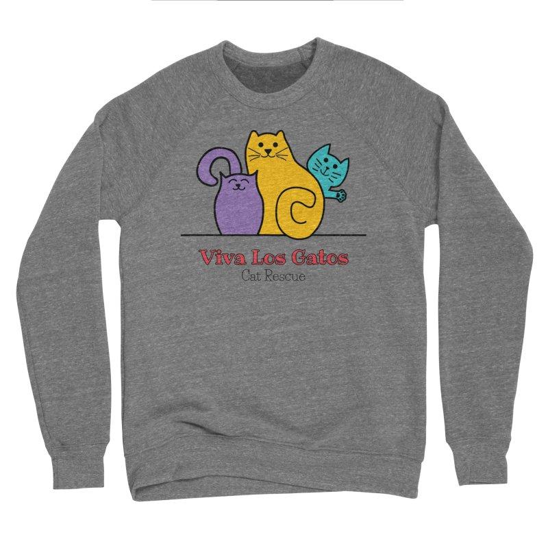 Gatos Light Men's Sponge Fleece Sweatshirt by Viva Los Gatos Cat Rescue's Shop