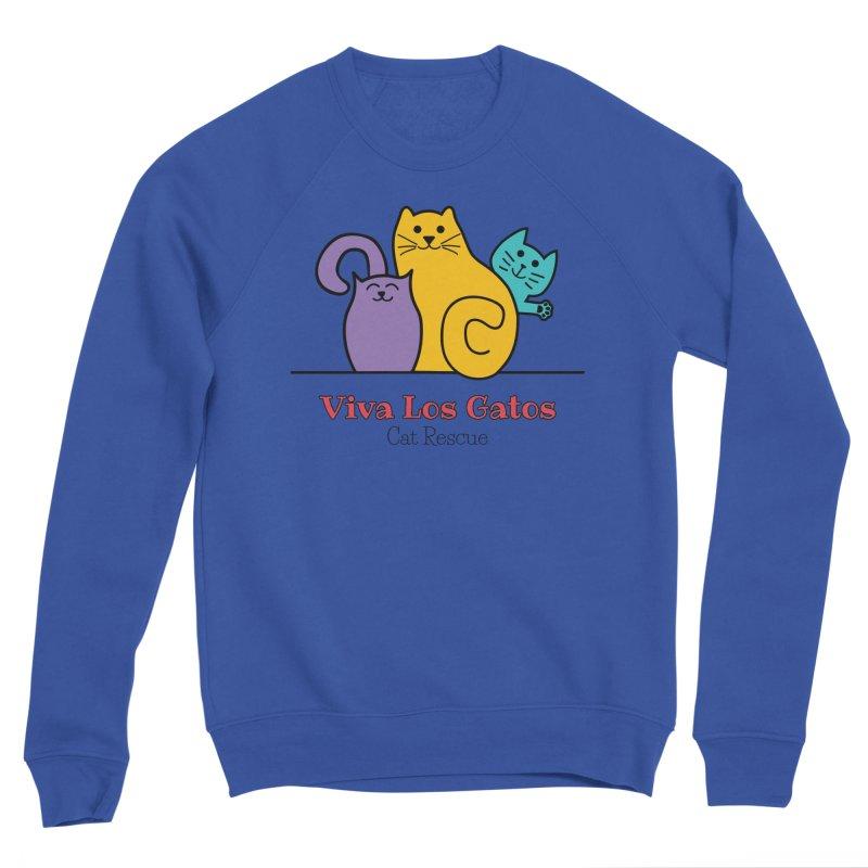 Gatos Light Men's Sweatshirt by Viva Los Gatos Cat Rescue's Shop