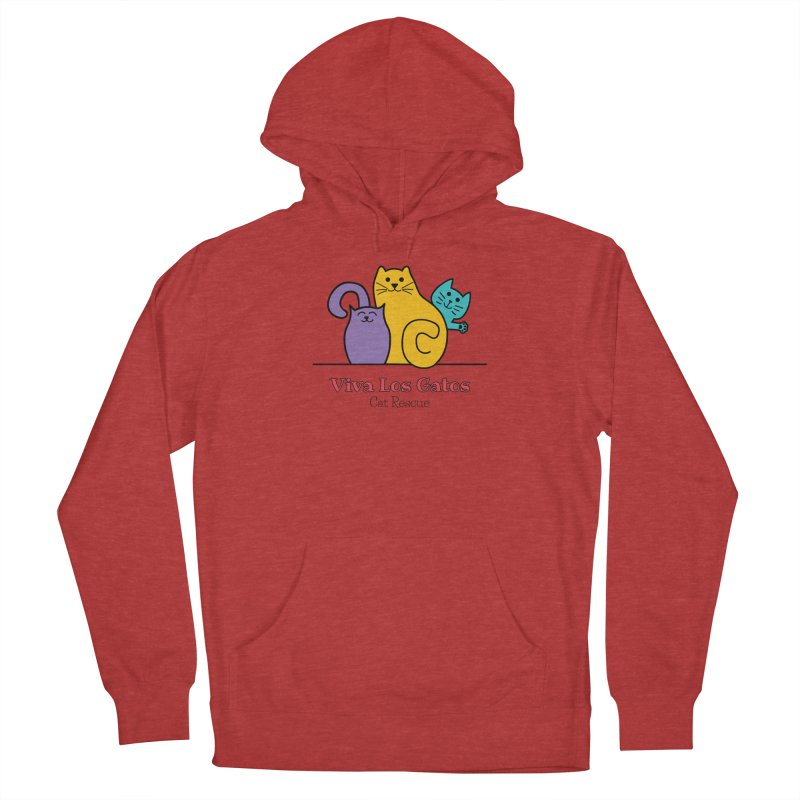Gatos Light Men's French Terry Pullover Hoody by Viva Los Gatos Cat Rescue's Shop