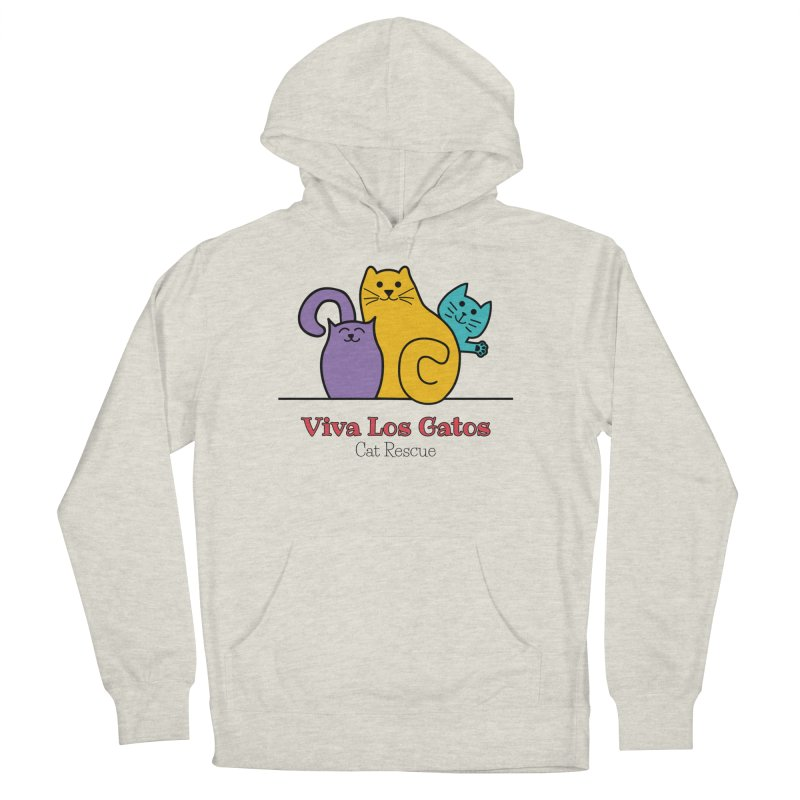 Gatos Light Women's French Terry Pullover Hoody by Viva Los Gatos Cat Rescue's Shop