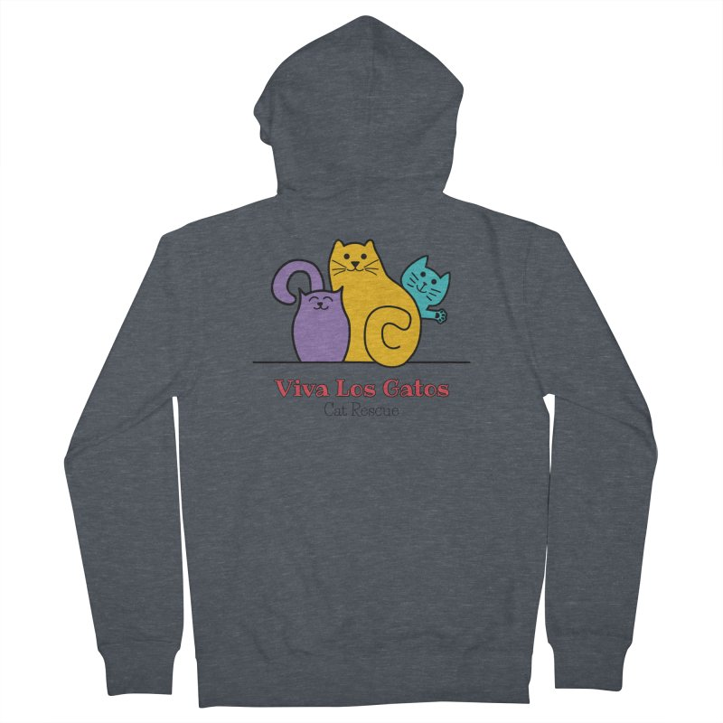 Gatos Light Men's French Terry Zip-Up Hoody by Viva Los Gatos Cat Rescue's Shop