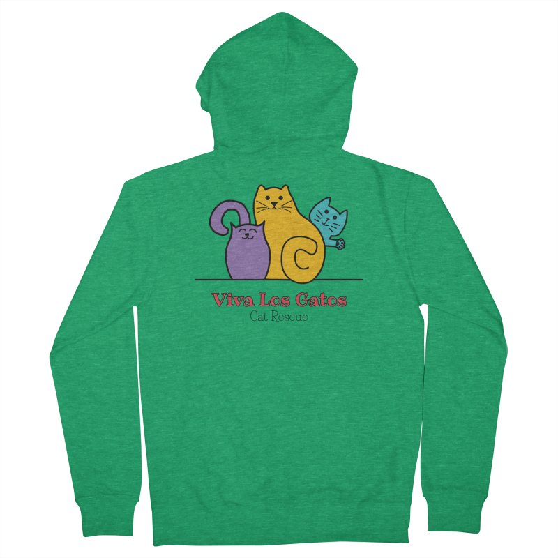 Gatos Light Men's Zip-Up Hoody by Viva Los Gatos Cat Rescue's Shop