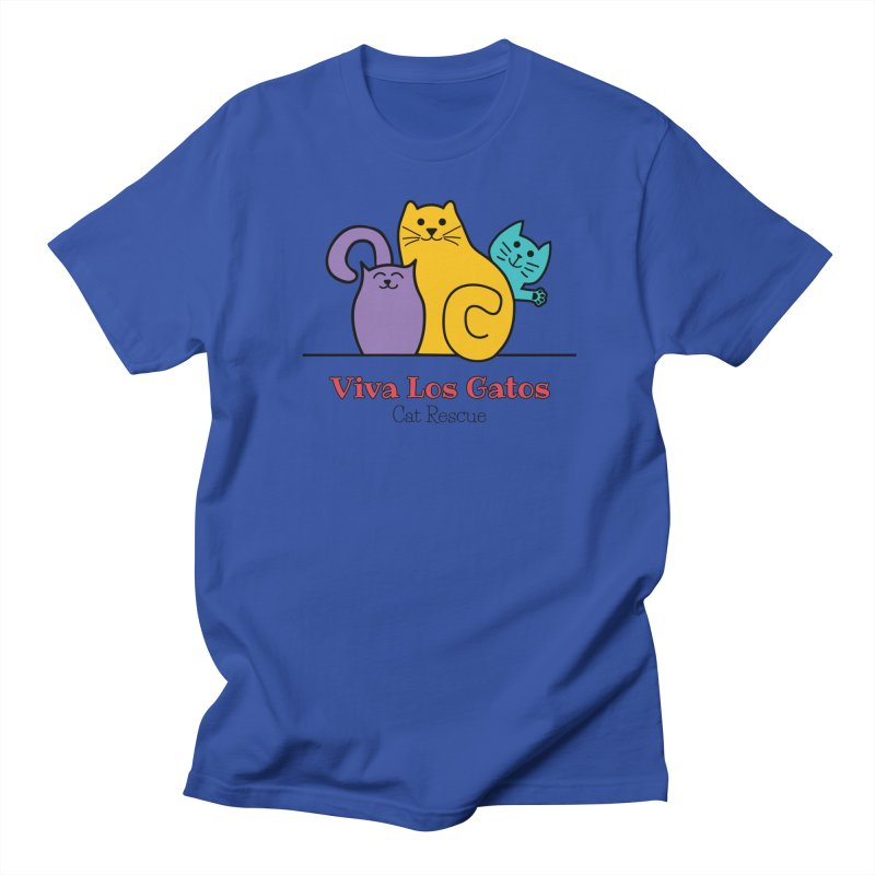 Gatos Light Men's Regular T-Shirt by Viva Los Gatos Cat Rescue's Shop