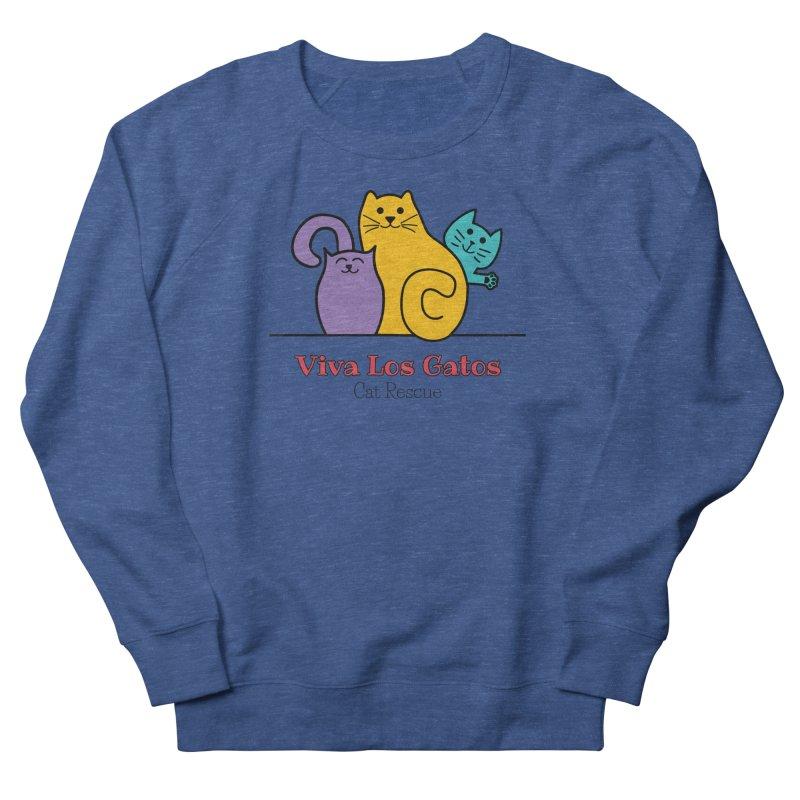 Gatos Light Women's French Terry Sweatshirt by Viva Los Gatos Cat Rescue's Shop