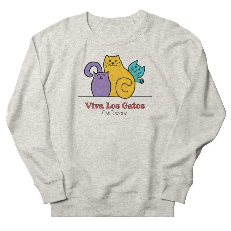 Gatos Light Women's French Terry Sweatshirt by Viva Los Gatos Cat Rescue's Shop