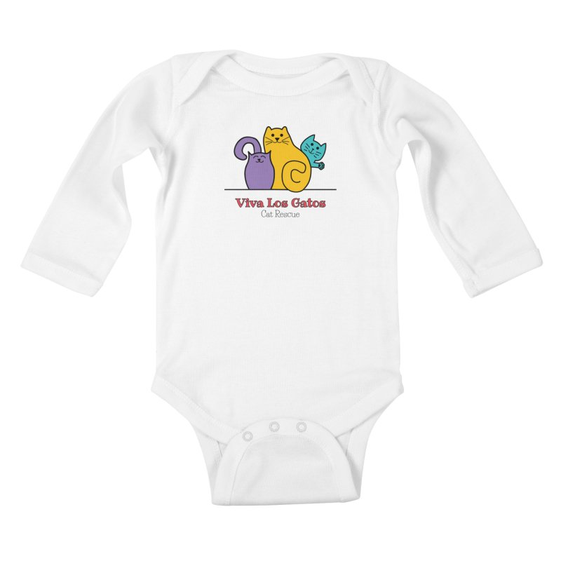 Gatos Light Kids Baby Longsleeve Bodysuit by Viva Los Gatos Cat Rescue's Shop