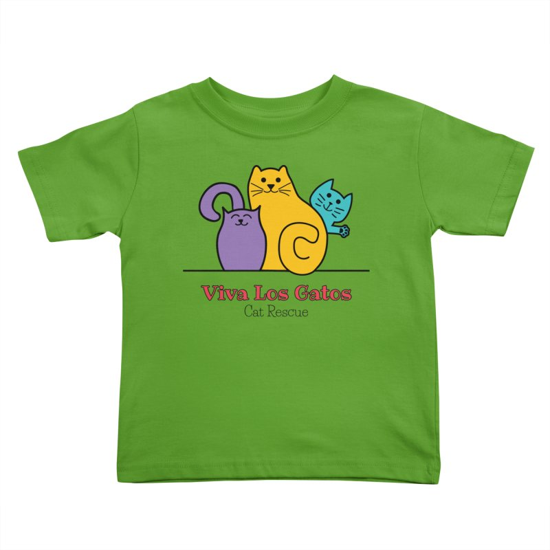 Gatos Light Kids Toddler T-Shirt by Viva Los Gatos Cat Rescue's Shop