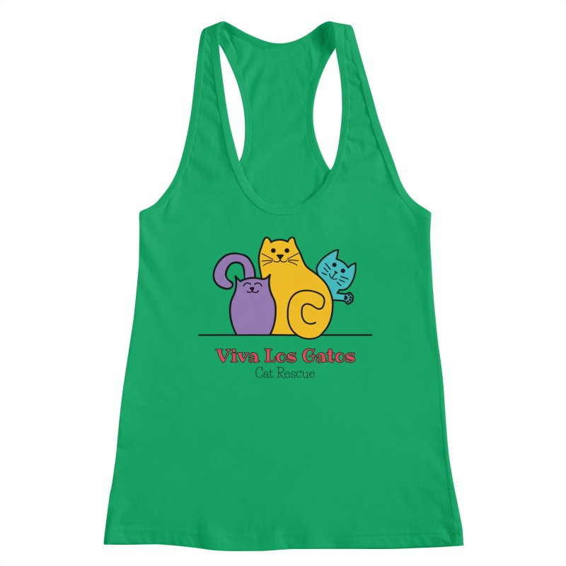 Gatos Light Women's Racerback Tank by Viva Los Gatos Cat Rescue's Shop