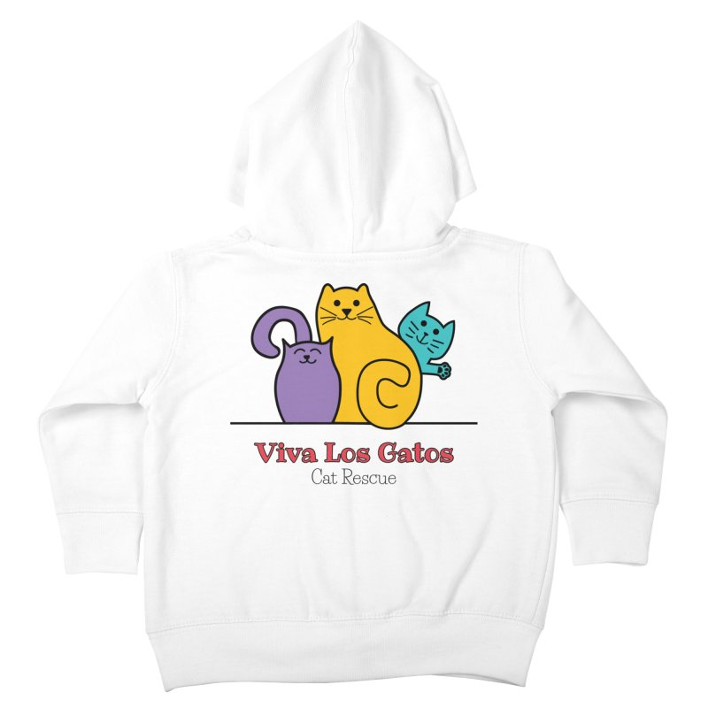 Gatos Light Kids Toddler Zip-Up Hoody by Viva Los Gatos Cat Rescue's Shop