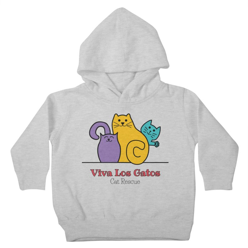 Gatos Light Kids Toddler Pullover Hoody by Viva Los Gatos Cat Rescue's Shop