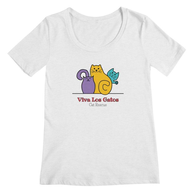 Gatos Light Women's Regular Scoop Neck by Viva Los Gatos Cat Rescue's Shop