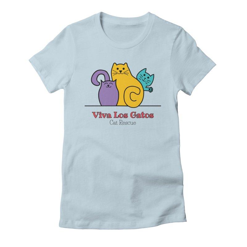 Gatos Light Women's T-Shirt by Viva Los Gatos Cat Rescue's Shop