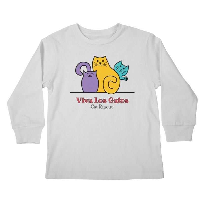 Gatos Light Kids Longsleeve T-Shirt by Viva Los Gatos Cat Rescue's Shop