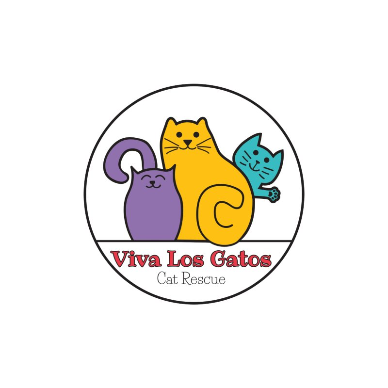 Gatos Circle Home Throw Pillow by Viva Los Gatos Cat Rescue's Shop
