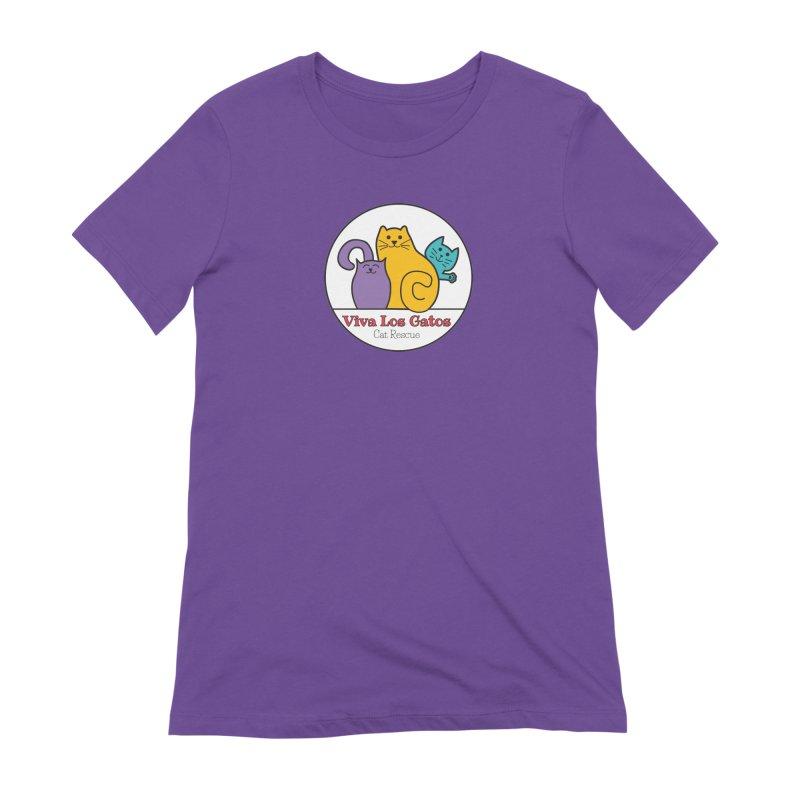 Gatos Circle Women's Extra Soft T-Shirt by Viva Los Gatos Cat Rescue's Shop
