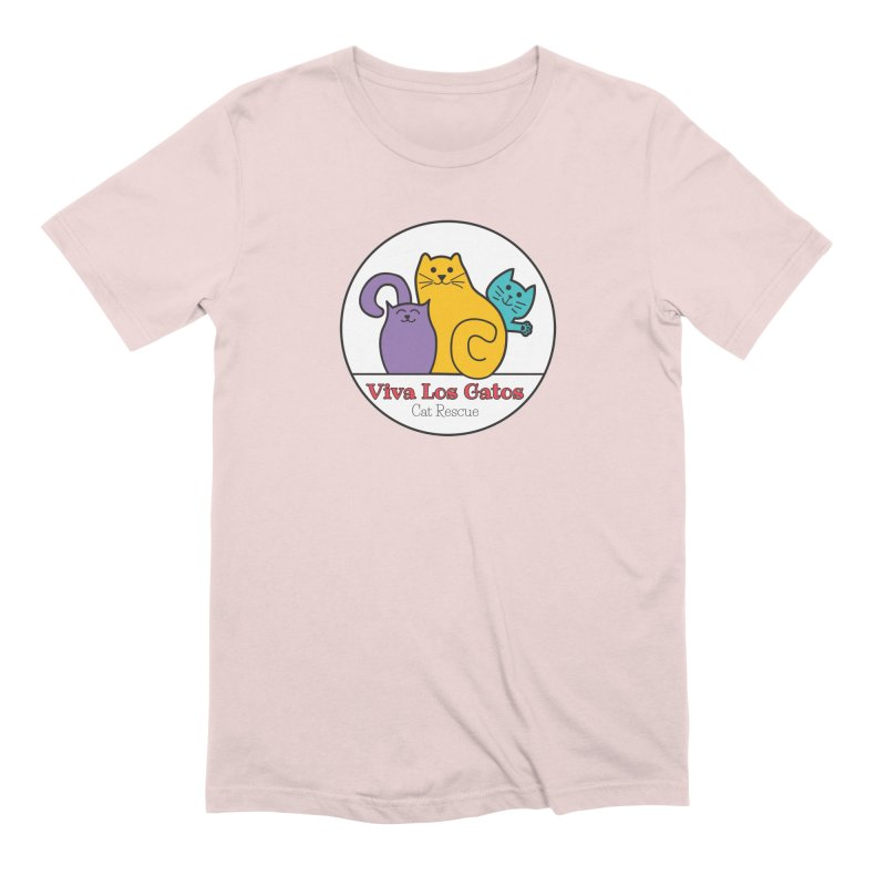 Gatos Circle Men's Extra Soft T-Shirt by Viva Los Gatos Cat Rescue's Shop