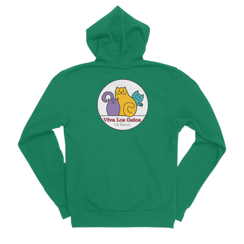 Gatos Circle Women's Sponge Fleece Zip-Up Hoody by Viva Los Gatos Cat Rescue's Shop