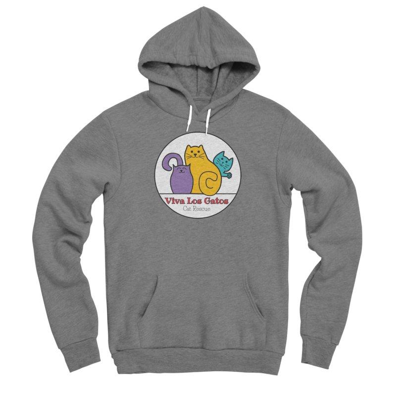 Gatos Circle Men's Sponge Fleece Pullover Hoody by Viva Los Gatos Cat Rescue's Shop