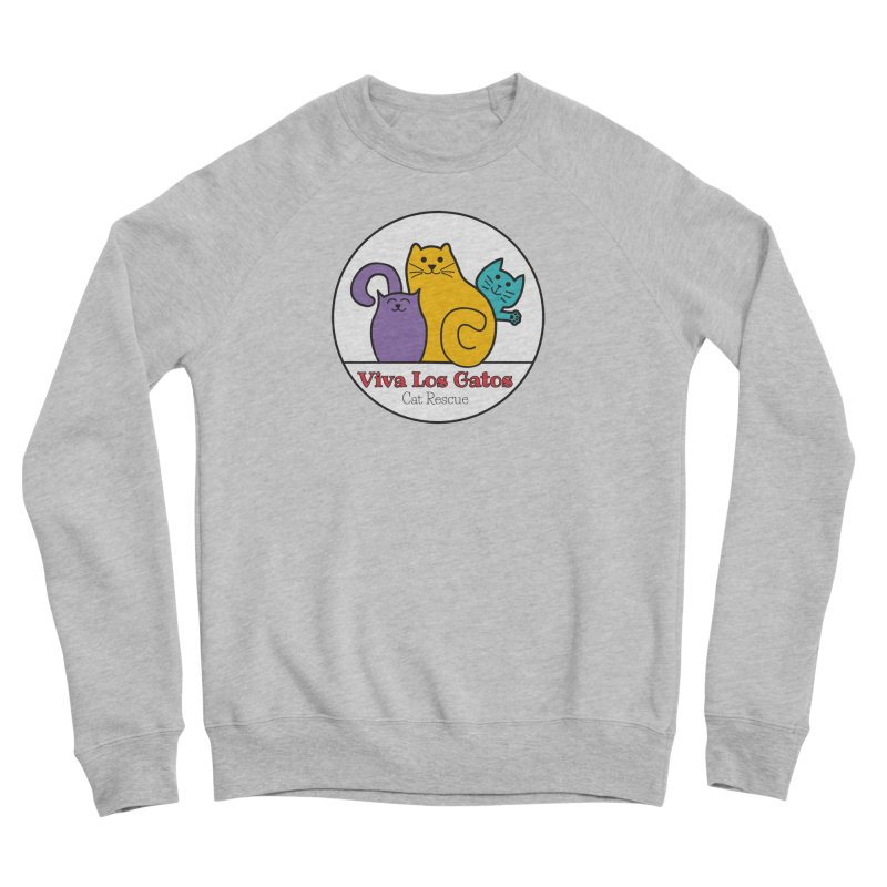 Gatos Circle Women's Sponge Fleece Sweatshirt by Viva Los Gatos Cat Rescue's Shop
