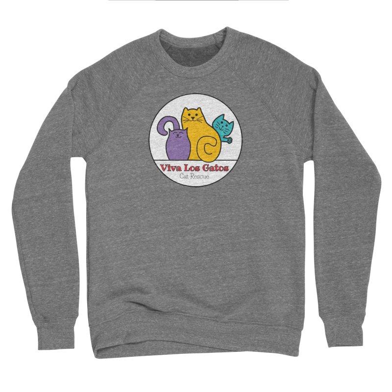 Gatos Circle Men's Sponge Fleece Sweatshirt by Viva Los Gatos Cat Rescue's Shop