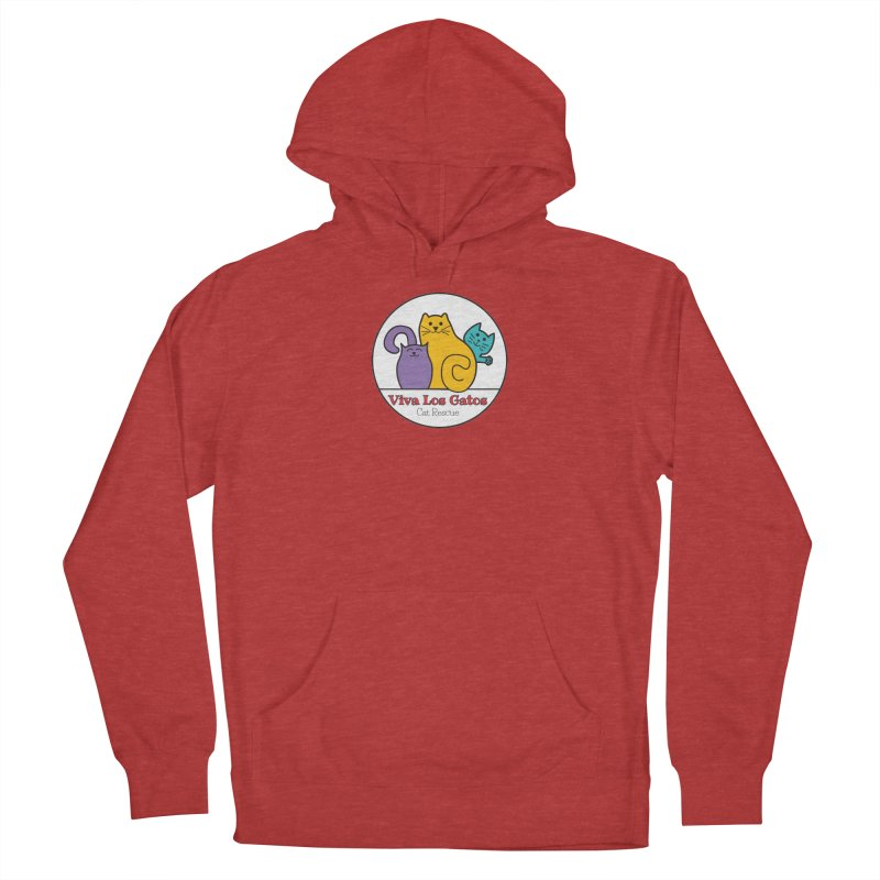 Gatos Circle Men's French Terry Pullover Hoody by Viva Los Gatos Cat Rescue's Shop
