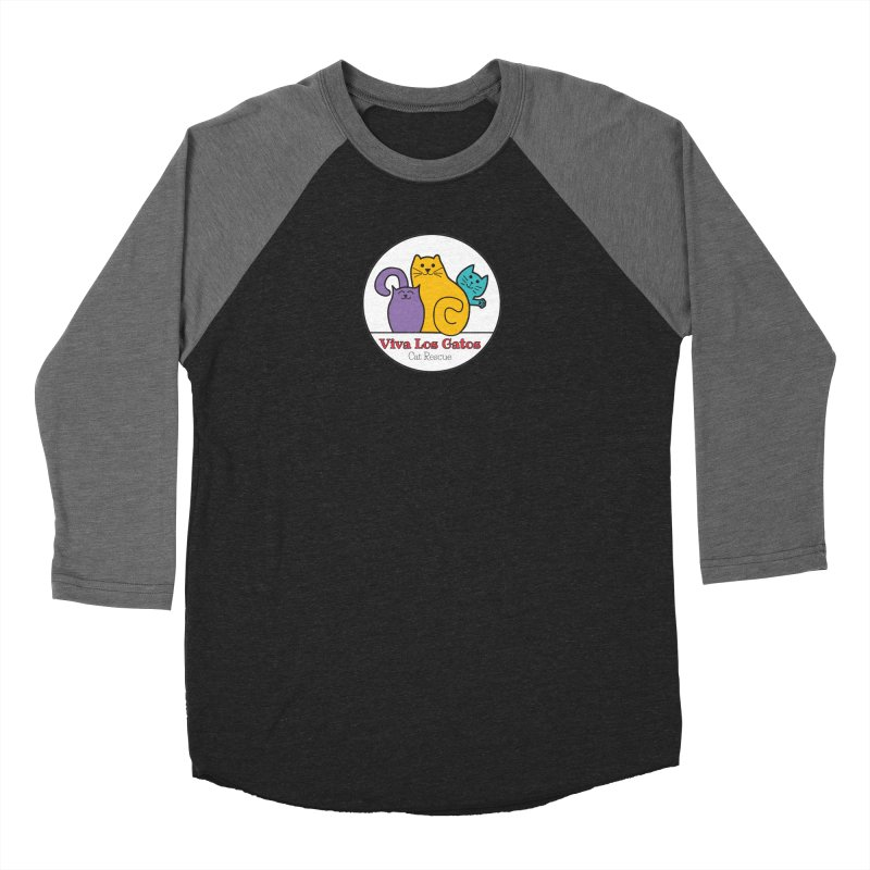 Gatos Circle Women's Baseball Triblend Longsleeve T-Shirt by Viva Los Gatos Cat Rescue's Shop