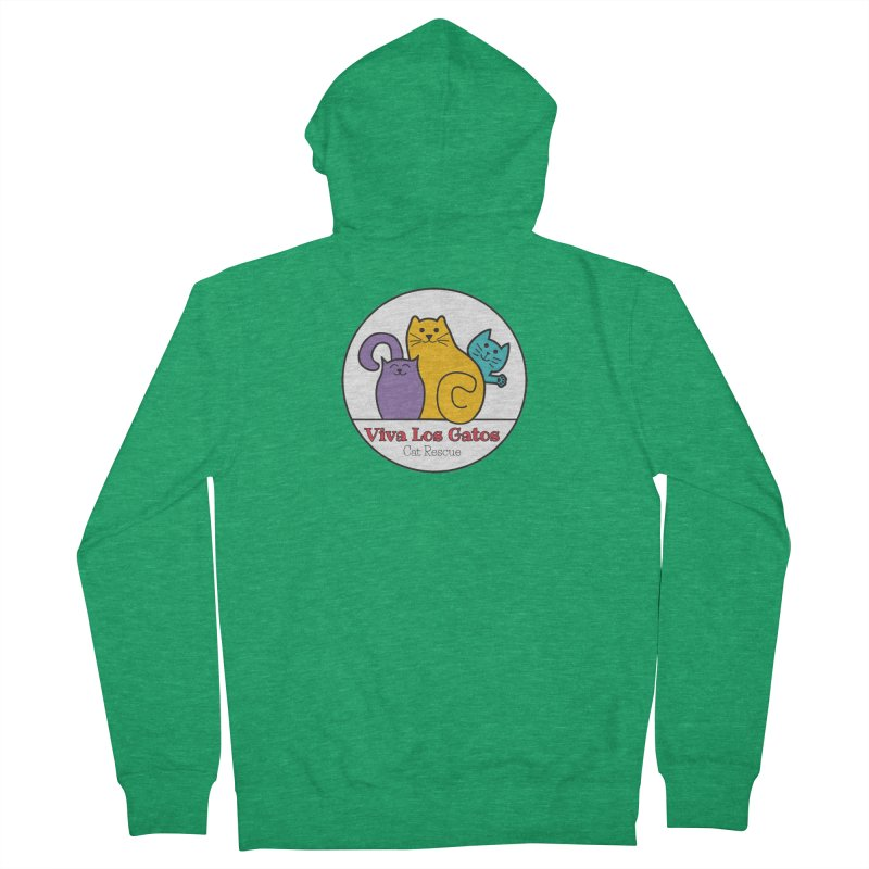 Gatos Circle Women's Zip-Up Hoody by Viva Los Gatos Cat Rescue's Shop