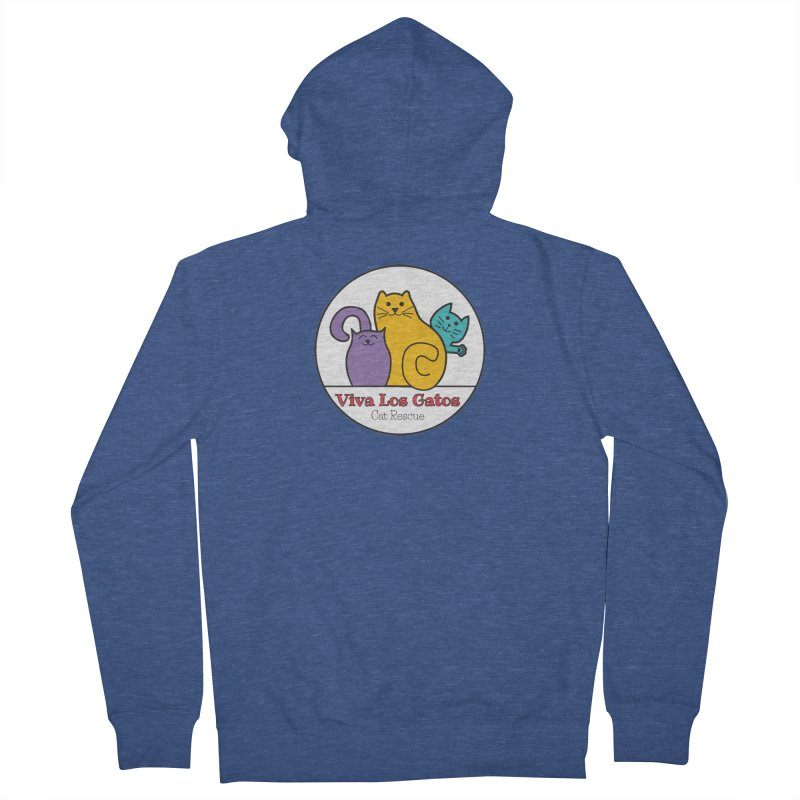 Gatos Circle Women's French Terry Zip-Up Hoody by Viva Los Gatos Cat Rescue's Shop