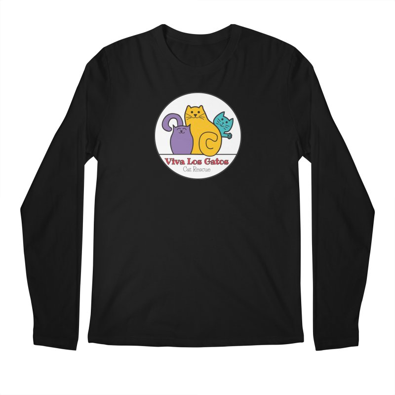 Gatos Circle Men's Regular Longsleeve T-Shirt by Viva Los Gatos Cat Rescue's Shop