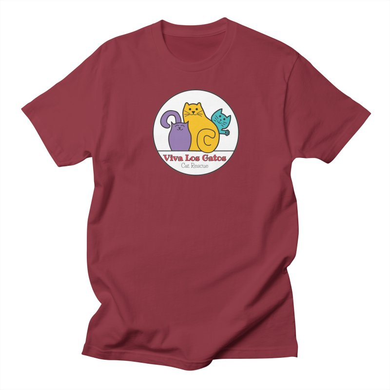 Gatos Circle Men's T-Shirt by Viva Los Gatos Cat Rescue's Shop