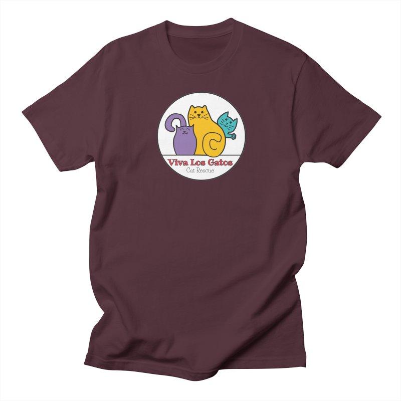 Gatos Circle Men's T-Shirt by Viva Los Gatos Cat Rescue's Shop