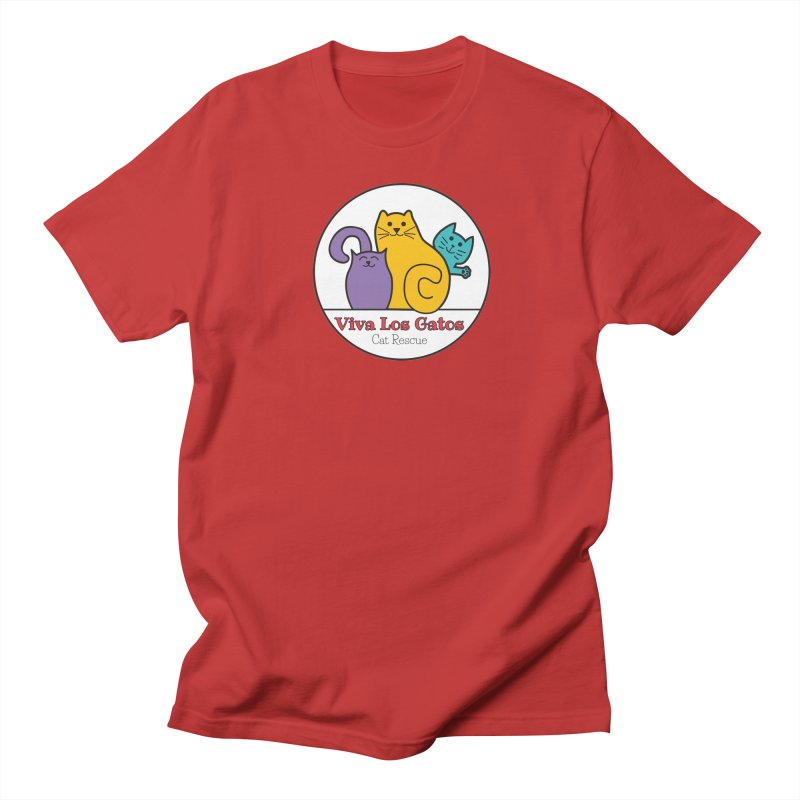 Gatos Circle Men's Regular T-Shirt by Viva Los Gatos Cat Rescue's Shop