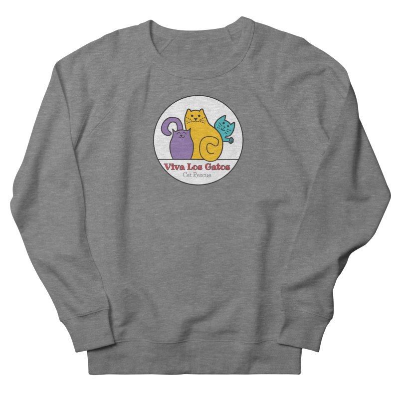 Gatos Circle Women's French Terry Sweatshirt by Viva Los Gatos Cat Rescue's Shop