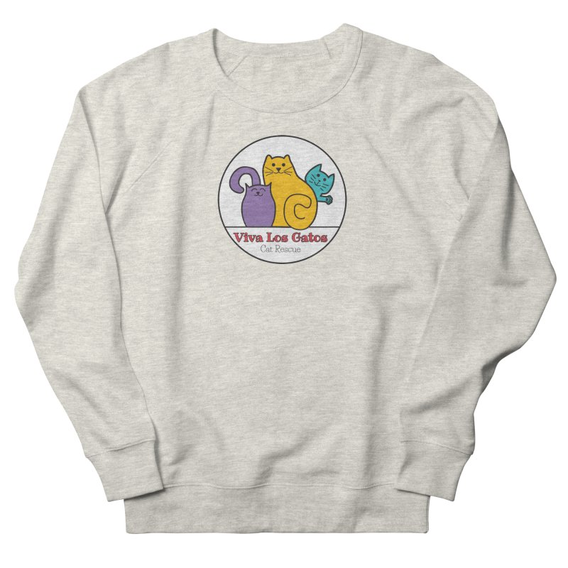 Gatos Circle Men's French Terry Sweatshirt by Viva Los Gatos Cat Rescue's Shop
