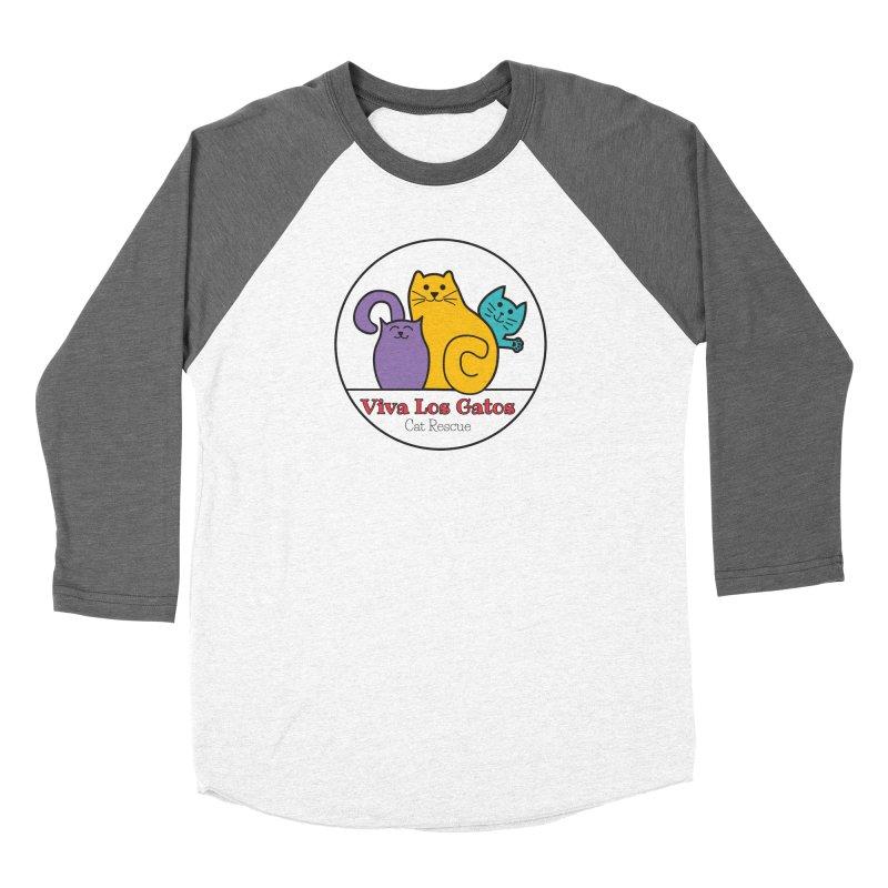 Gatos Circle Men's Baseball Triblend Longsleeve T-Shirt by Viva Los Gatos Cat Rescue's Shop