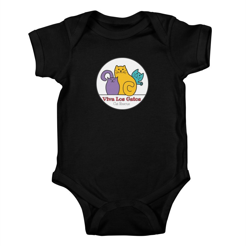 Gatos Circle Kids Baby Bodysuit by Viva Los Gatos Cat Rescue's Shop