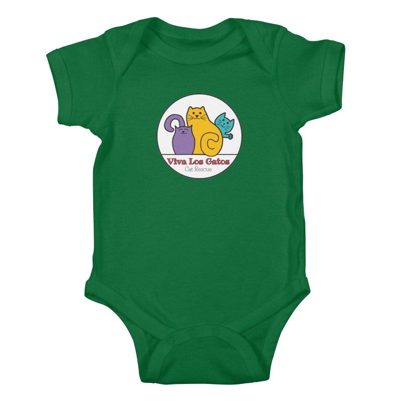 Gatos Circle Kids Baby Bodysuit by Viva Los Gatos Cat Rescue's Shop