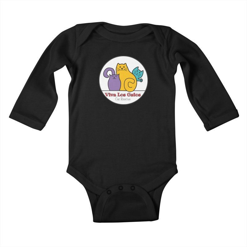 Gatos Circle Kids Baby Longsleeve Bodysuit by Viva Los Gatos Cat Rescue's Shop