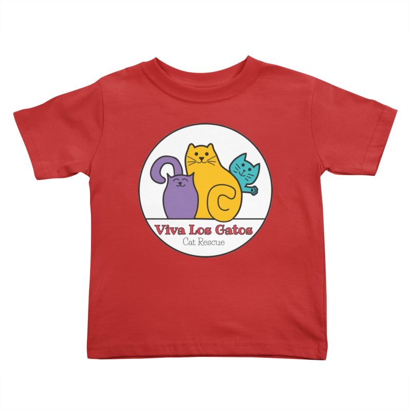 Gatos Circle Kids Toddler T-Shirt by Viva Los Gatos Cat Rescue's Shop