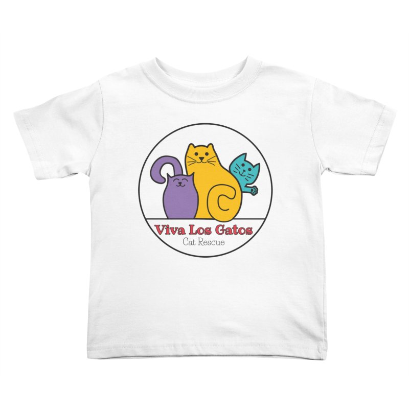 Gatos Circle Kids Toddler T-Shirt by Viva Los Gatos Cat Rescue's Shop