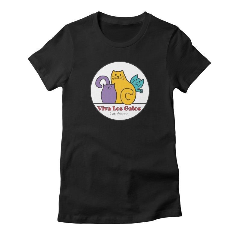 Gatos Circle Women's T-Shirt by Viva Los Gatos Cat Rescue's Shop