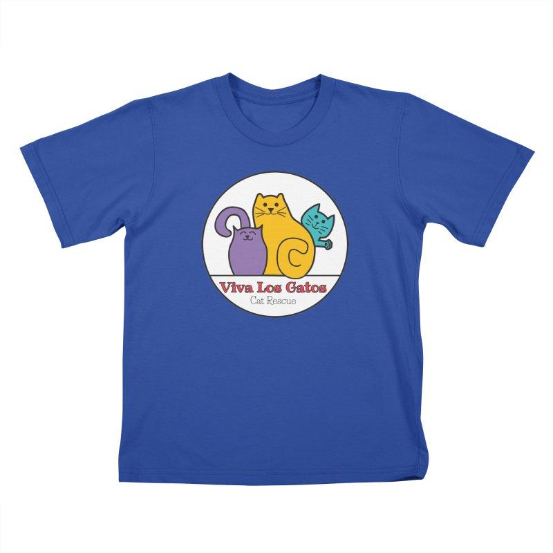 Gatos Circle Kids T-Shirt by Viva Los Gatos Cat Rescue's Shop