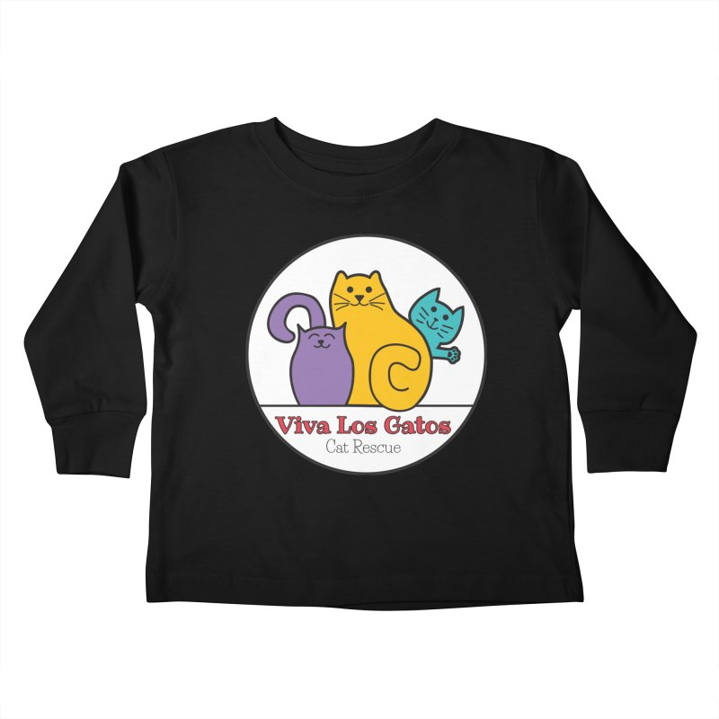 Gatos Circle Kids Toddler Longsleeve T-Shirt by Viva Los Gatos Cat Rescue's Shop